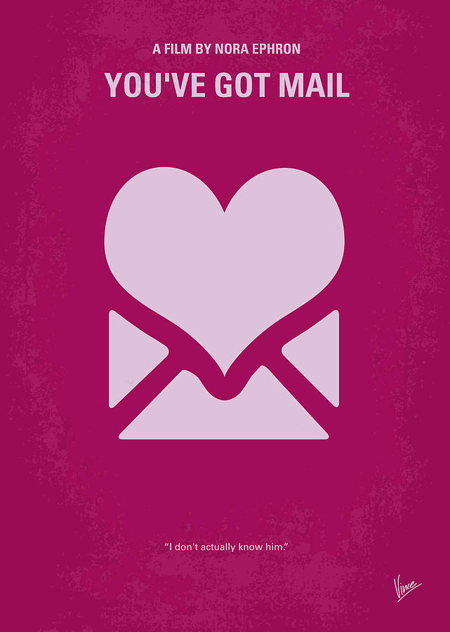 You Digital Art - No107 My Youve Got Mail Movie Poster by Chungkong Art