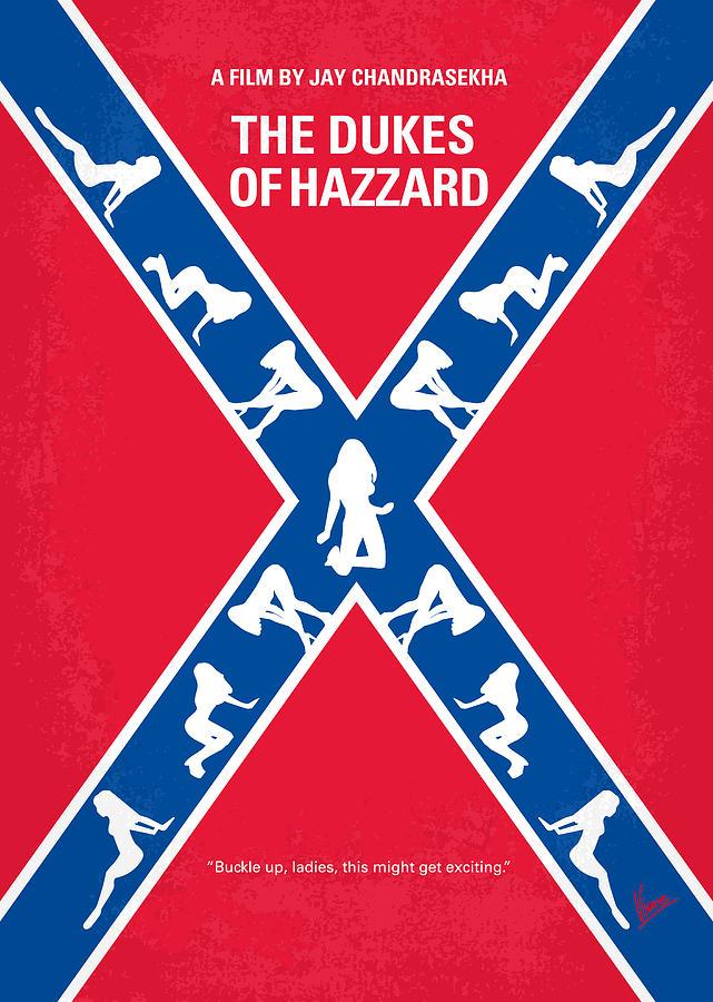 Dukes Digital Art - No108 My The Dukes Of Hazzard Movie Poster by Chungkong Art