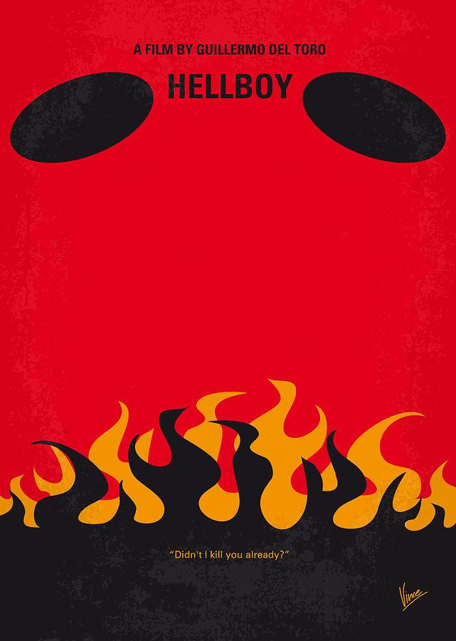 Hellboy Digital Art - No131 My Hellboy Minimal Movie Poster by Chungkong Art