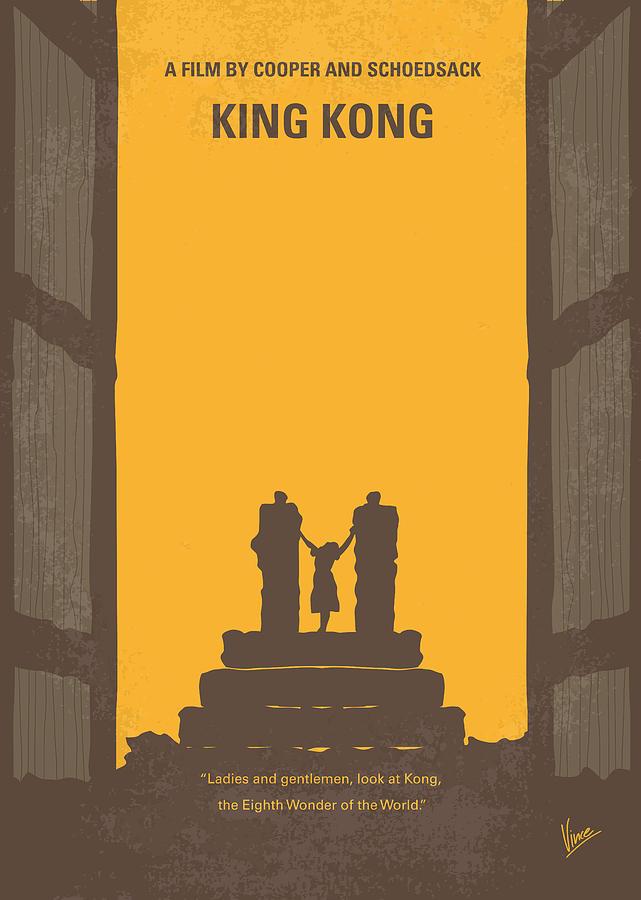 King Digital Art - No133 My King Kong Minimal Movie Poster by Chungkong Art