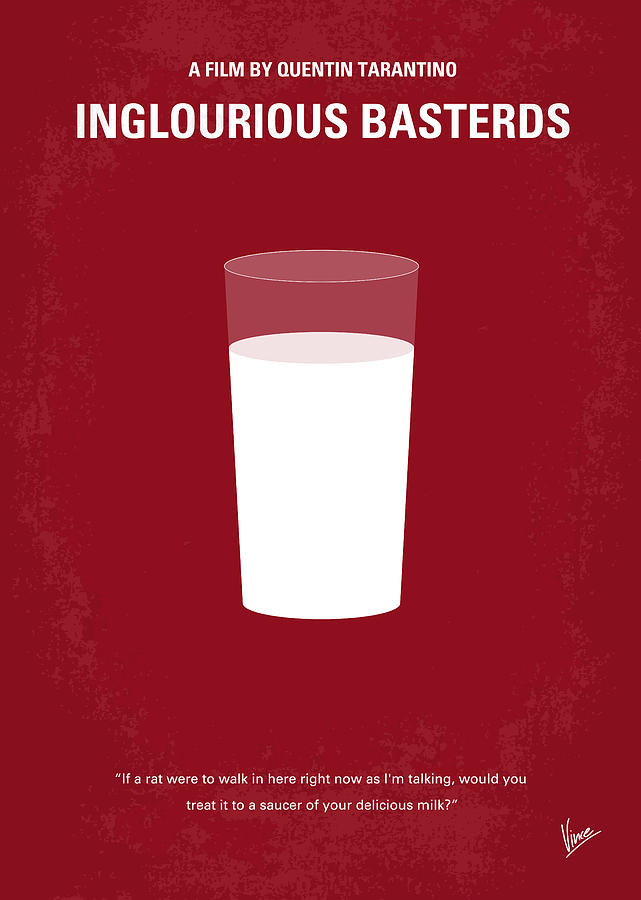 Inglourious Digital Art - No138 My Inglourious Basterds Minimal Movie Poster by Chungkong Art