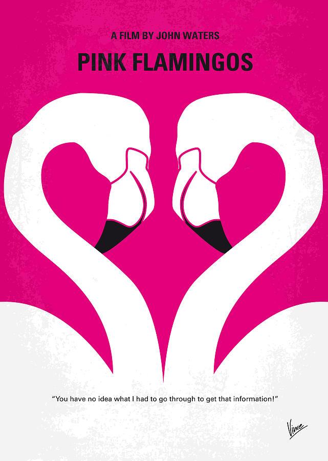 Pink Digital Art - No142 My Pink Flamingos Minimal Movie Poster by Chungkong Art