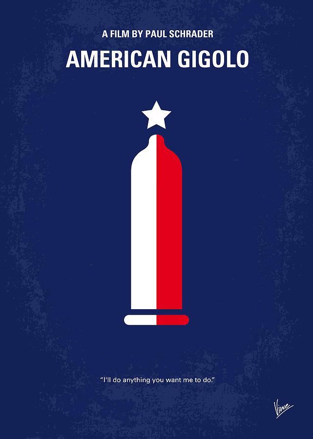 American Digital Art - No150 My American Gigolo Minimal Movie Poster by Chungkong Art