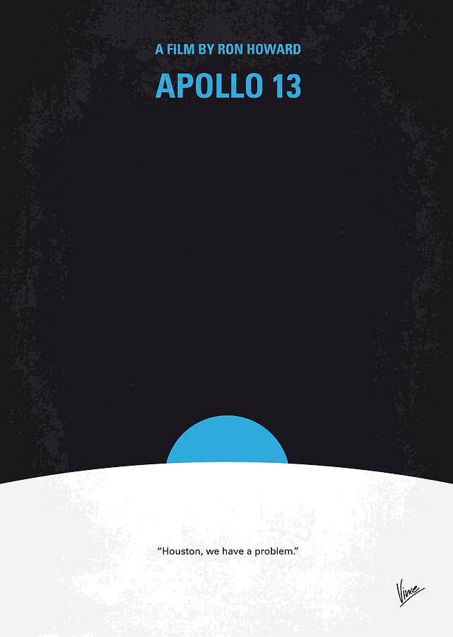 Apollo Digital Art - No151 My Apollo 13 Minimal Movie Poster by Chungkong Art