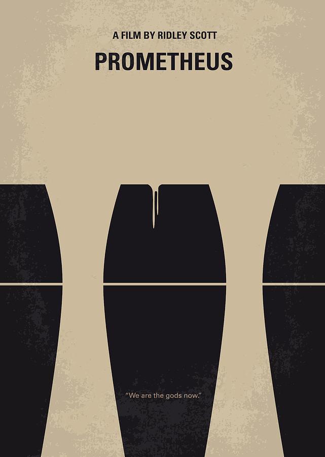 Prometheus Digital Art - No157 My Prometheus Minimal Movie Poster by Chungkong Art