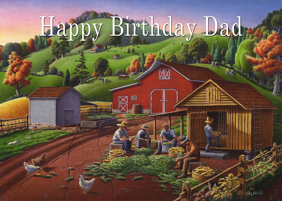 No16 Happy Birthday Dad Painting By Walt Curlee