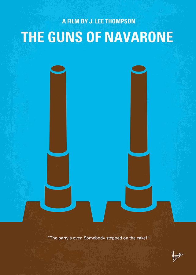 Guns Digital Art - No168 My The Guns Of Navarone Minimal Movie Poster by Chungkong Art