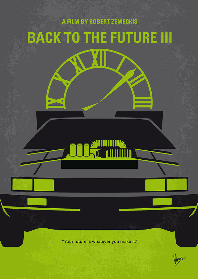 Back Digital Art - No183 My Back To The Future Minimal Movie Poster-part IIi by Chungkong Art