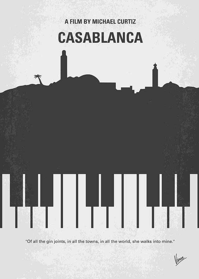 Casablanca Digital Art - No192 My Casablanca Minimal Movie Poster by Chungkong Art