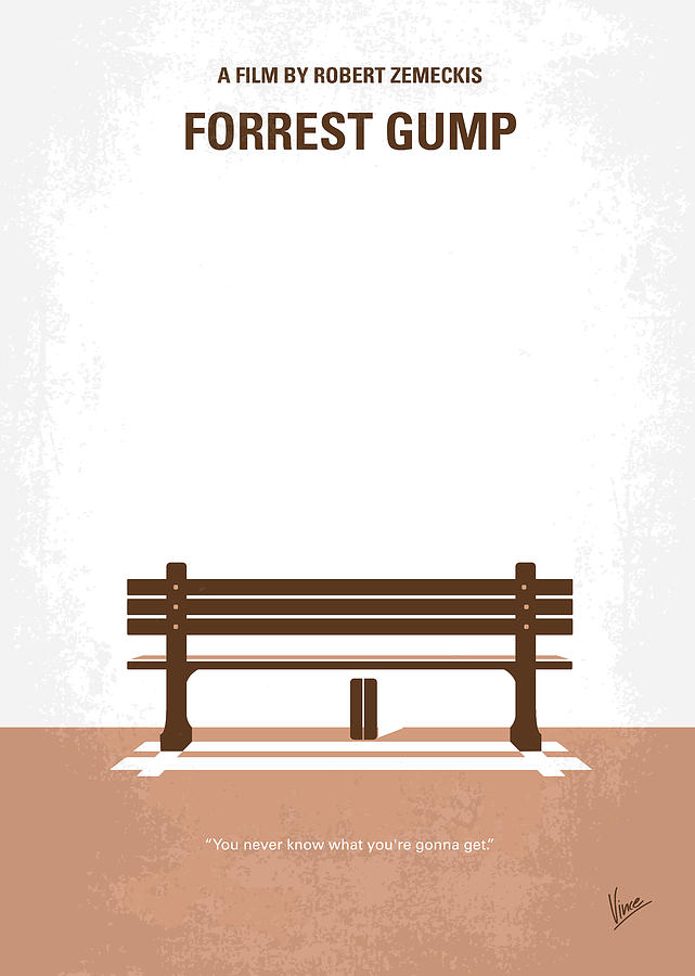 Forrest Digital Art - No193 My Forrest Gump minimal movie poster by Chungkong Art
