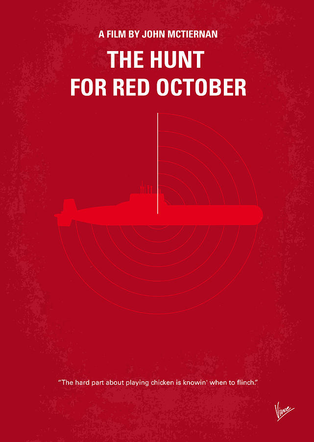 Hunt Digital Art - No198 My The Hunt for Red October minimal movie poster by Chungkong Art