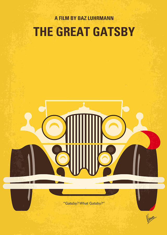 The Digital Art - No206 My The Great Gatsby minimal movie poster by Chungkong Art