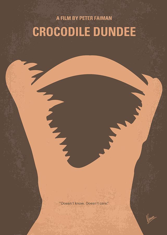 Crocodile Digital Art - No210 My Crocodile Dundee Minimal Movie Poster by Chungkong Art