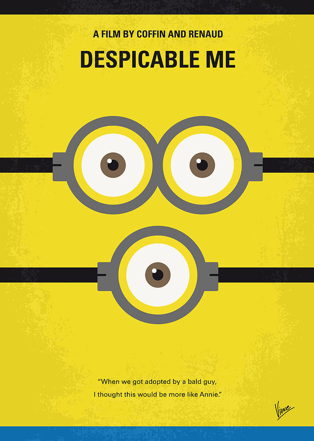 Despicable Digital Art - No213 My Despicable Me Minimal Movie Poster by Chungkong Art