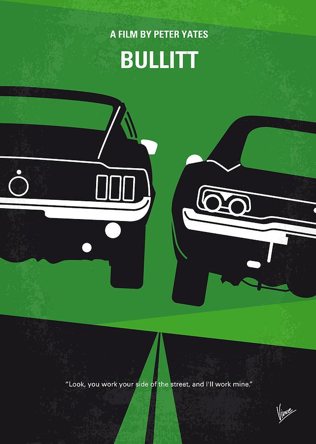 Frank Digital Art - No214 My BULLITT minimal movie poster by Chungkong Art