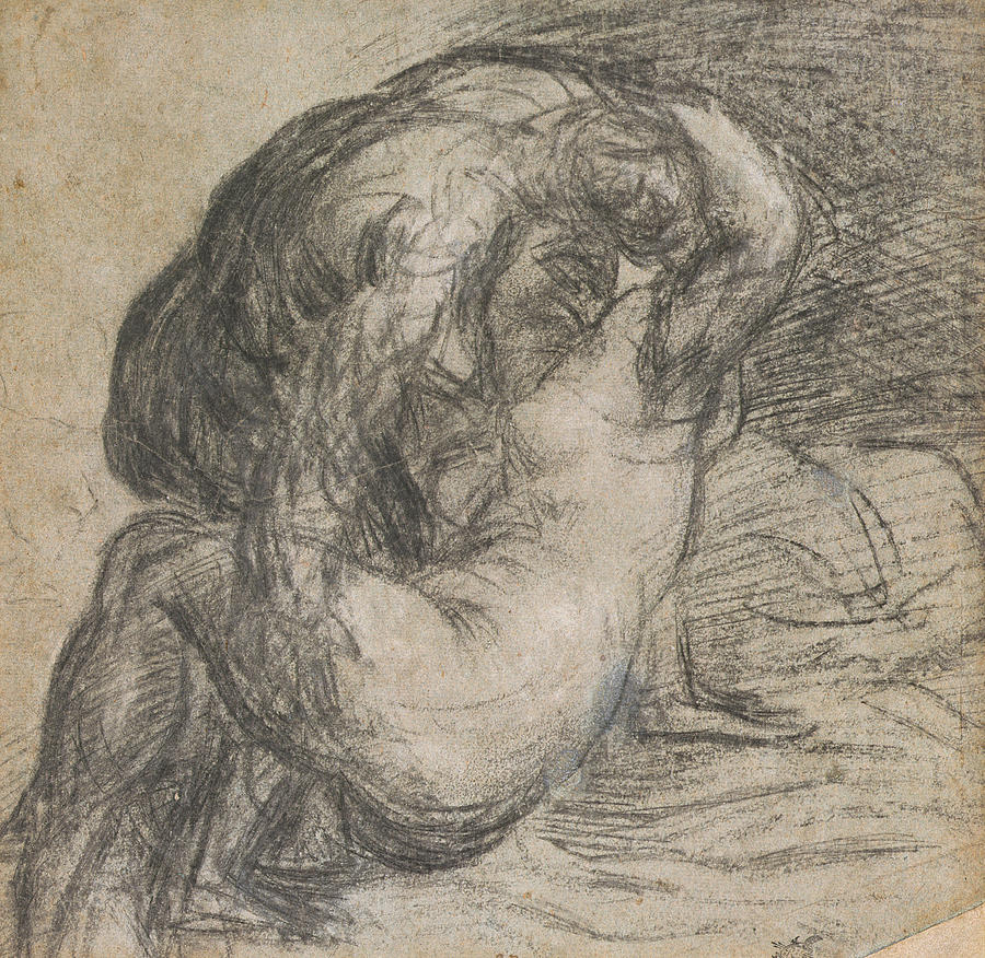 Renaissance Drawing - Couple In An Embrace by Titian