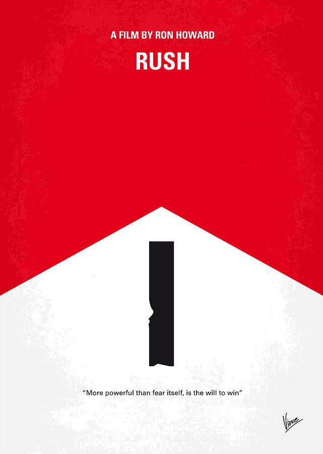Rush Digital Art - No228 My Rush Minimal Movie Poster by Chungkong Art