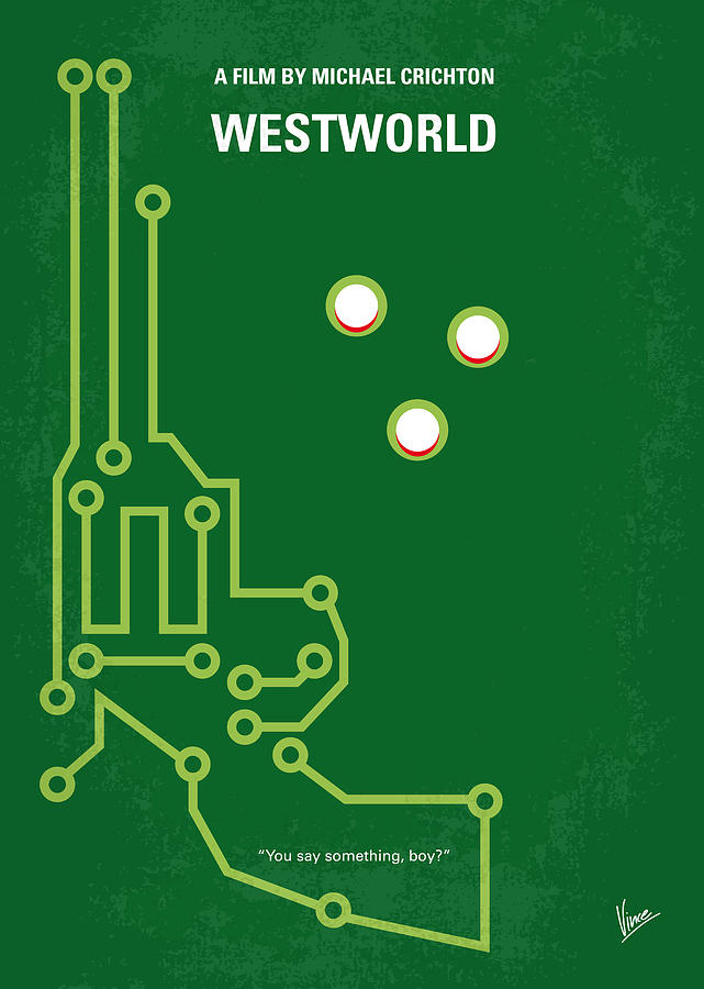Westworld Digital Art - No231 My Westworld Minimal Movie Poster by Chungkong Art