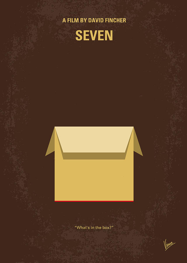 Seven Digital Art - No233 My Seven minimal movie poster by Chungkong Art