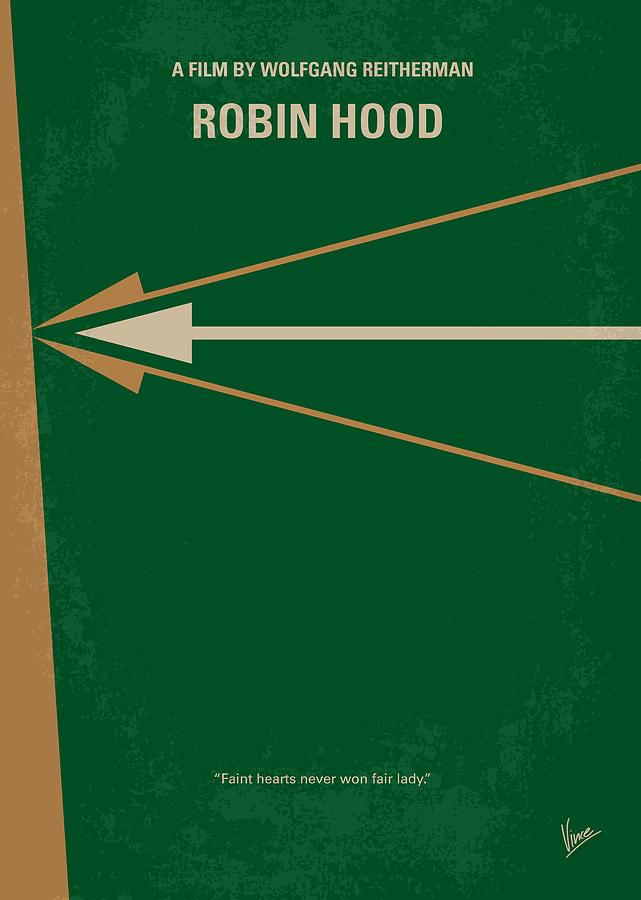 Robin Digital Art - No237 My Robin Hood Minimal Movie Poster by Chungkong Art