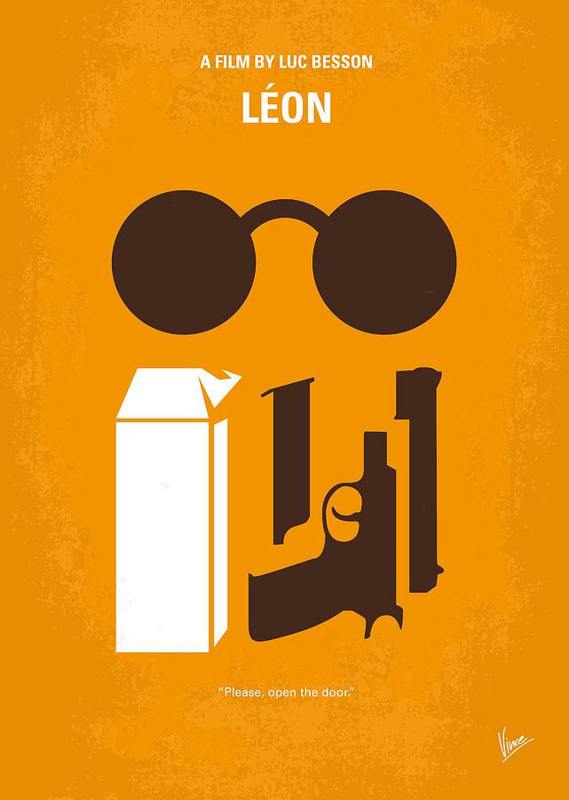 Leon Digital Art - No239 My LEON minimal movie poster by Chungkong Art