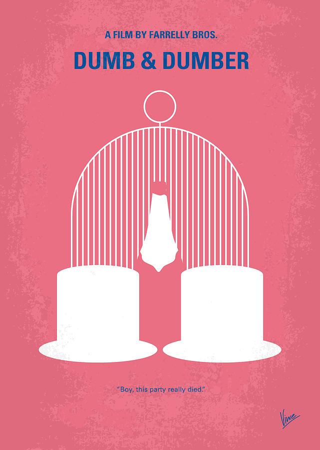 Dumb Digital Art - No241 My Dumb And Dumber Minimal Movie Poster by Chungkong Art