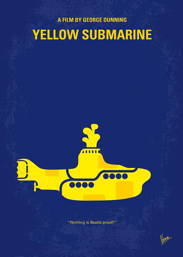 Yellow Digital Art - No257 My YELLOW SUBMARINE minimal movie poster by Chungkong Art