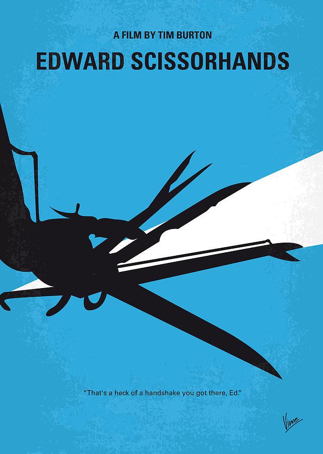 No260 My Scissorhands Minimal Movie Poster Digital Art by ...