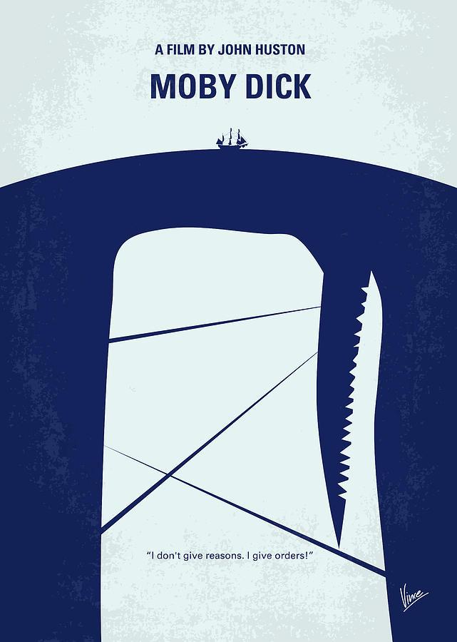 Minimal Digital Art - No267 My Moby Dick Minimal Movie Poster by Chungkong Art
