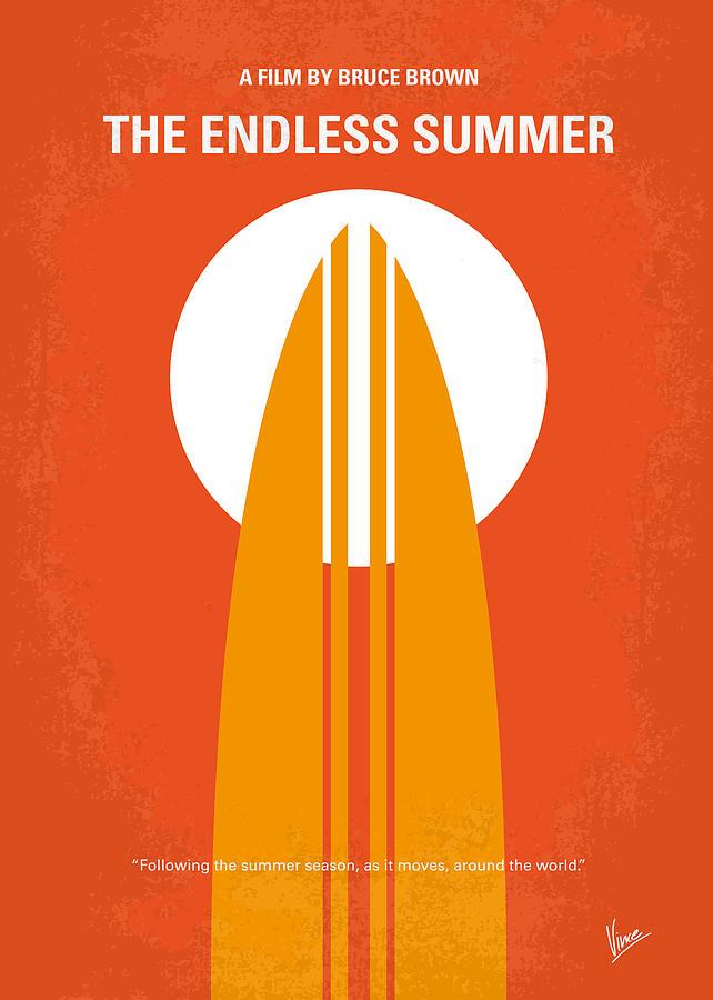 Endless Digital Art - No274 My The Endless Summer minimal movie poster by Chungkong Art