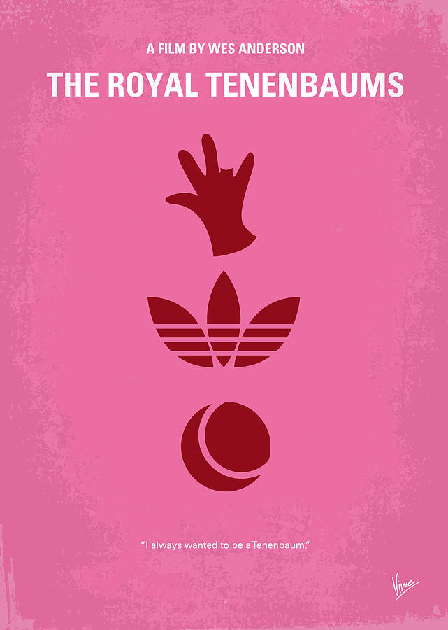 Royal Digital Art - No320 My The Royal Tenenbaums Minimal Movie Poster by Chungkong Art