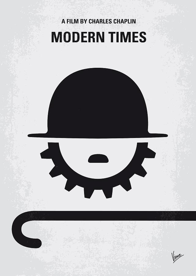 Modern Digital Art - No325 My Modern Times Minimal Movie Poster by Chungkong Art