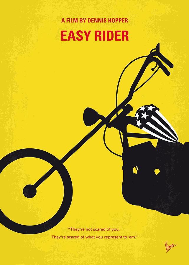 Easy Digital Art - No333 My Easy Rider Minimal Movie Poster by Chungkong Art