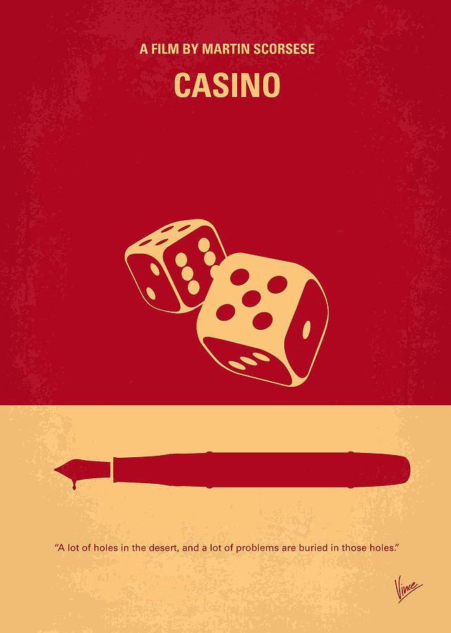 Casino Digital Art - No348 My Casino minimal movie poster by Chungkong Art