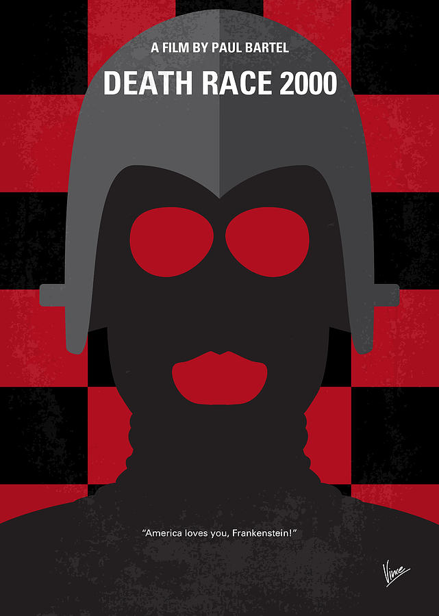 Death Digital Art - No367 My Death Race 2000 Minimal Movie Poster by Chungkong Art