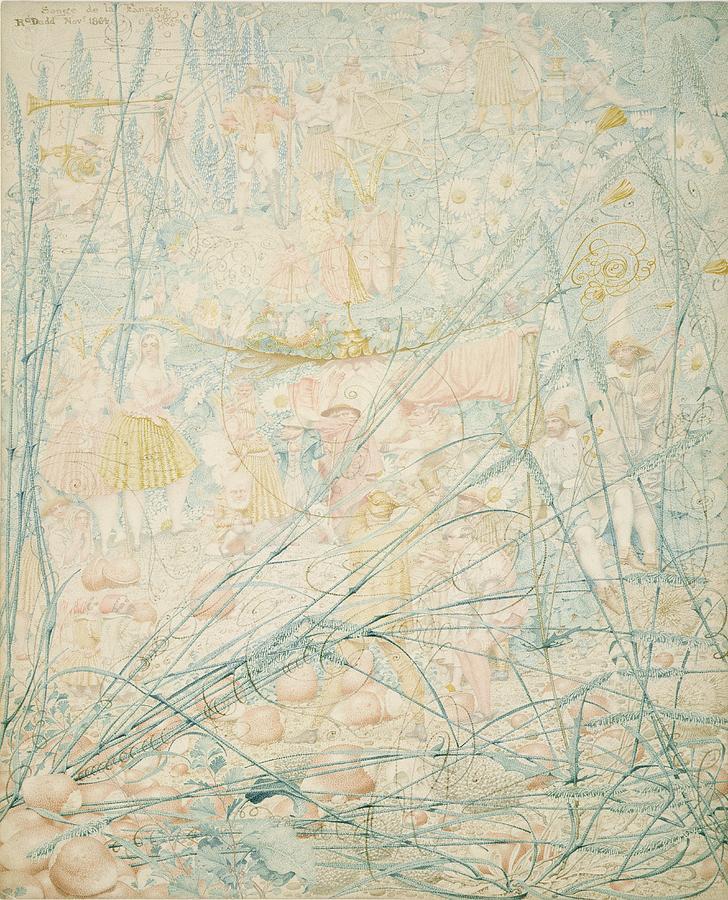 Fantasy Painting - No.3713 Songe De La Fantasie, 1864 by Richard Dadd