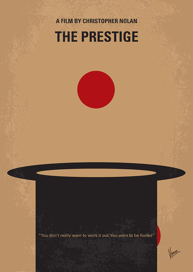 The Digital Art - No381 My The Prestige Minimal Movie Poster by Chungkong Art