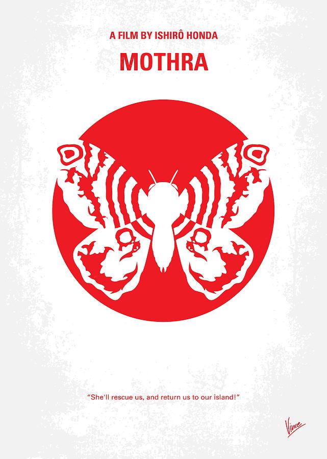 Mothra Digital Art - No391 My Mothra Minimal Movie Poster by Chungkong Art