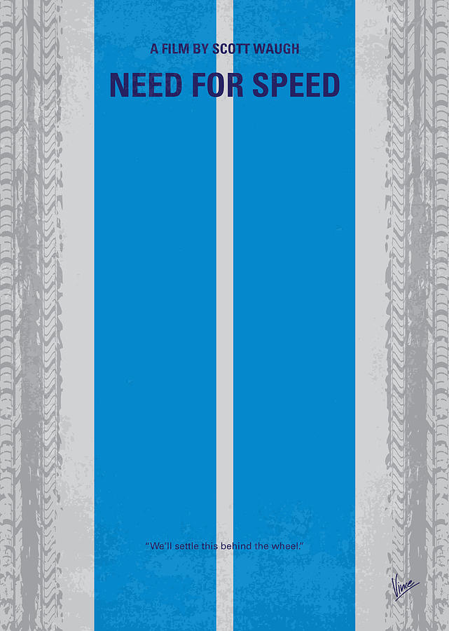 Need Digital Art - No407 My Need For Speed Minimal Movie Poster by Chungkong Art