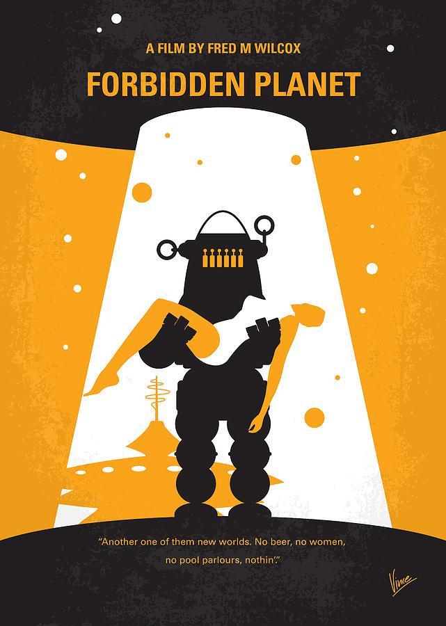 Forbidden Digital Art - No415 My Forbidden Planet Minimal Movie Poster by Chungkong Art