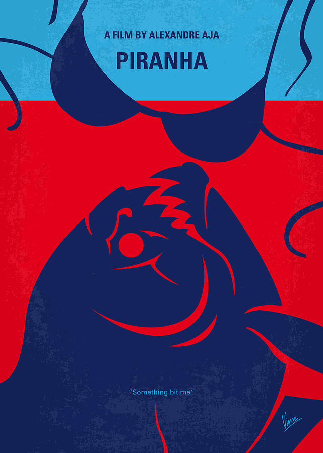 Piranha Digital Art - No433 My Piranha Minimal Movie Poster by Chungkong Art
