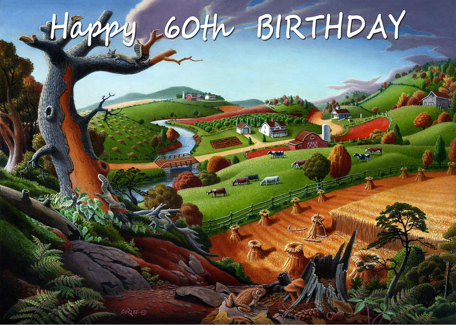 No9 Happy 60th Birthday Painting By Walt Curlee