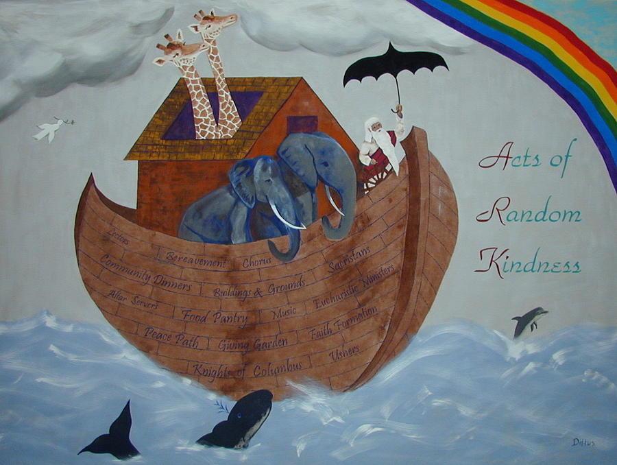 Noah's Ark Painting - Noahs Ark by Chrissey Dittus