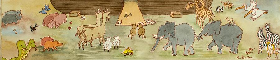 Noah's Ark Painting - Noahs Ark by Ruth Bailey