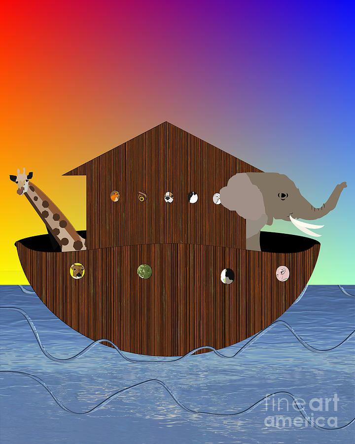 Noah's Ark Digital Art - Noahs Ark by Pharris Art