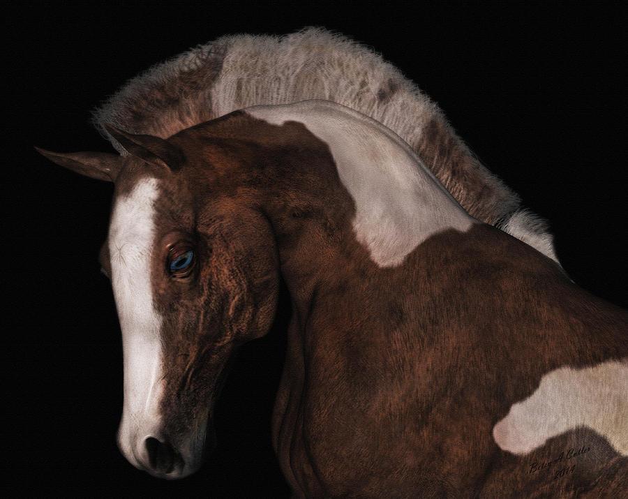 Horse Digital Art - Noble by Betsy Knapp