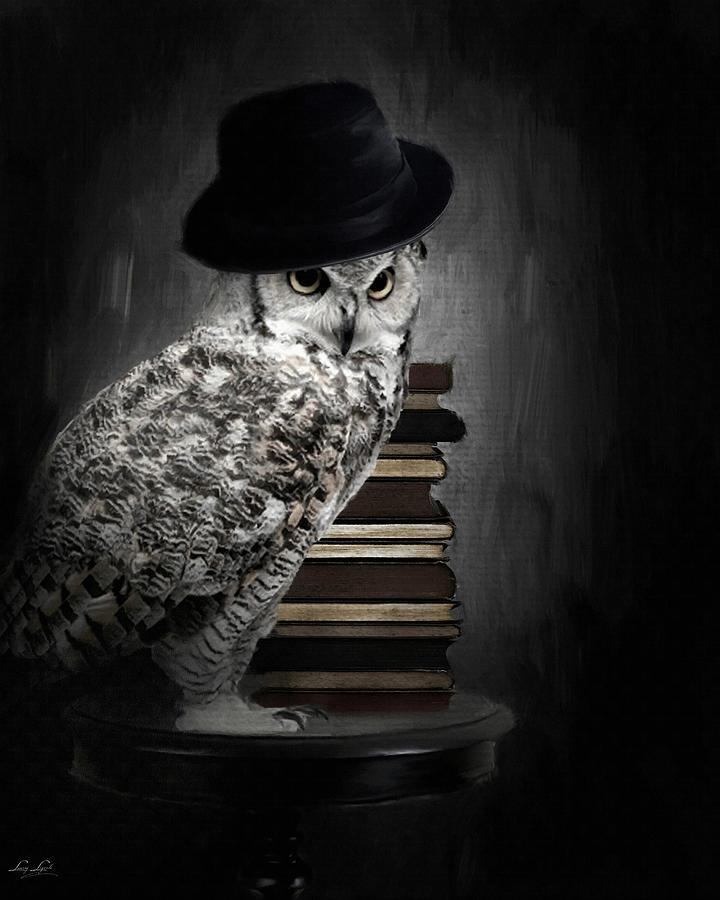 Owls Digital Art - Noble One by Lourry Legarde