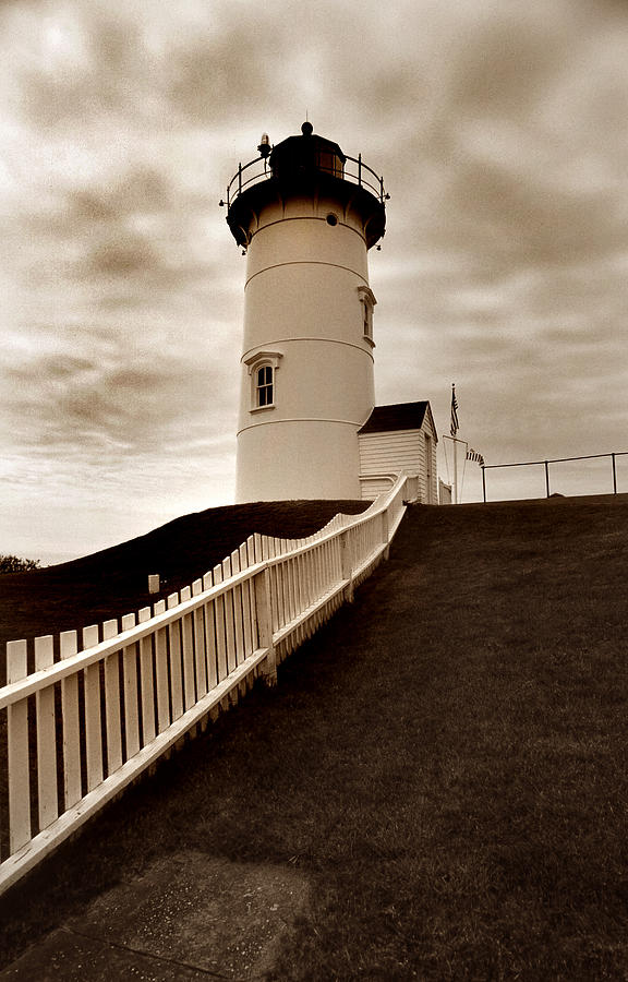 Cape Cod Photograph - Nobska Lighthouse by Skip Willits