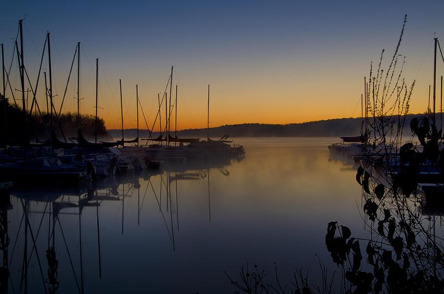 Nockamixon Photograph - Nockamixon Marina At Dawn by Bill Cannon