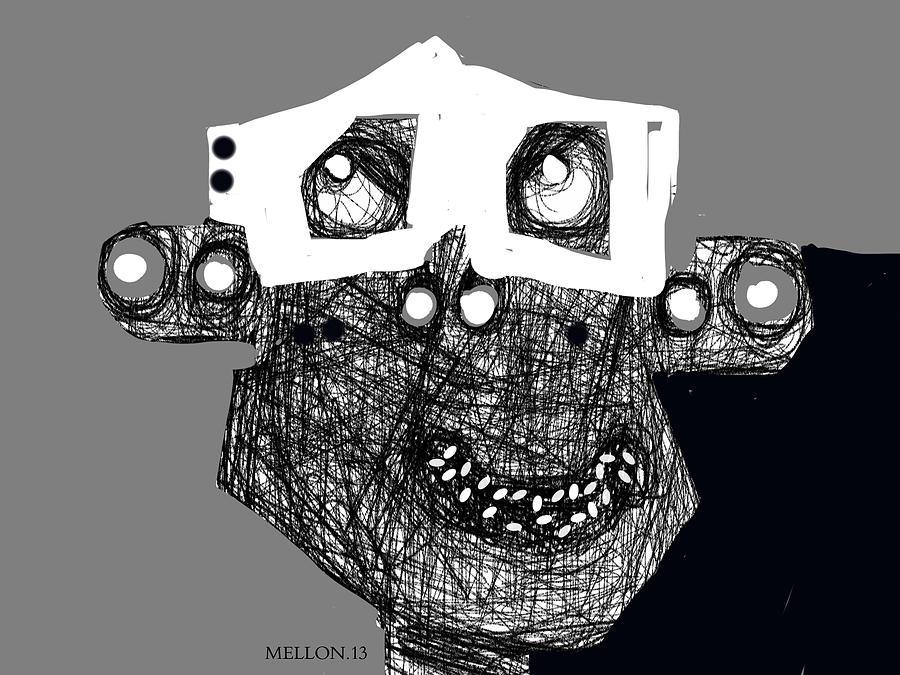 Face Drawing - Noctis No. 4 by Mark M  Mellon